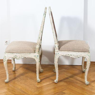 Sedie Luigi XV, XIX secolo, set di 2 in vendita su Pamono
