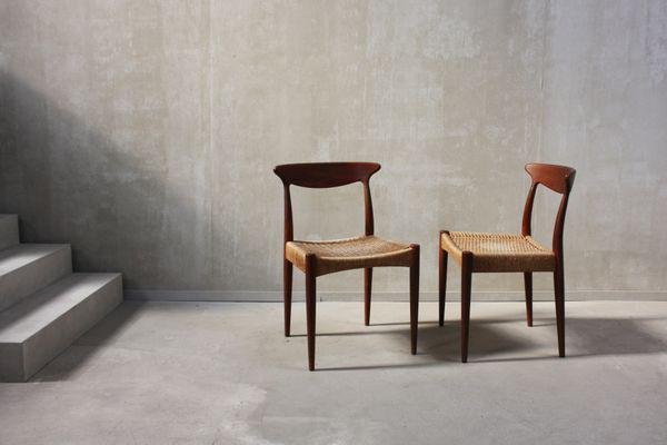 Scandinavian Dining Chairs By Arne Hovmand Olsen For Mogens Kold, 1960s, Set  Of 6
