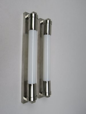 Vintage Nickel Plated Art Deco Wall Lights, Set of 2 for sale at Pamono
