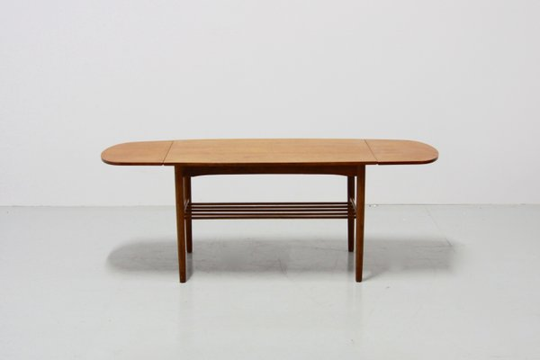 Vintage Danish Extendable Coffee Table, 1960s 1