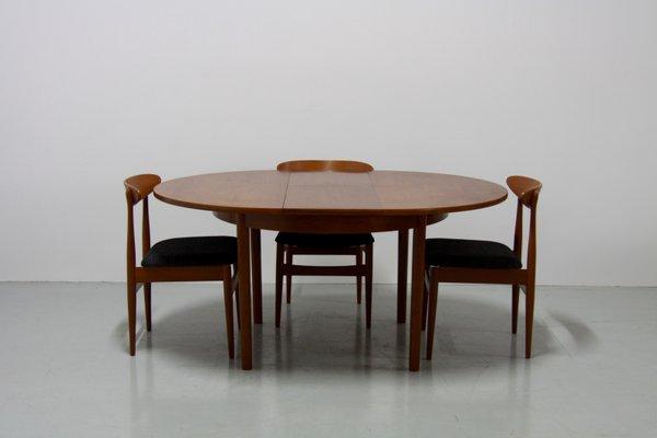 Tavolo da pranzo Mid-Century allungabile in teak di Vanson, anni \'60 ...