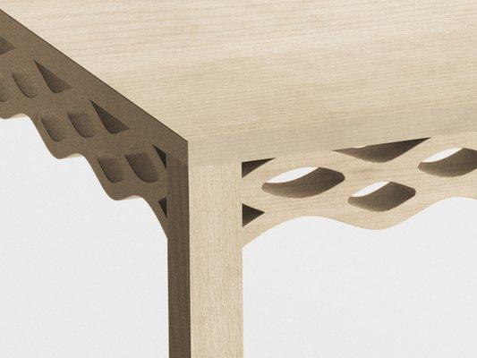 Tavolo in legno di frassino di Mario Alessiani per Dialetto Design ...