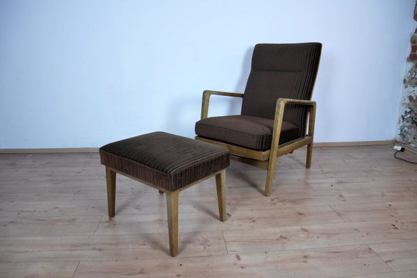 Danish Lounge Chair And Ottoman, 1960s 1