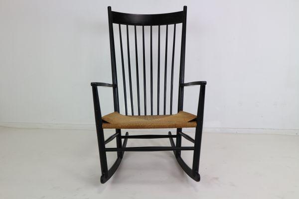 Black J16 Rocking Chair By Hans Wegner, 1969 1