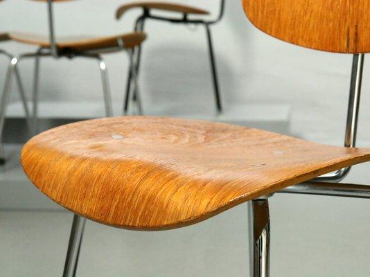 Se 68 Walnut Veneer Chair By Egon Eiermann For Wilde Spieth 1960s