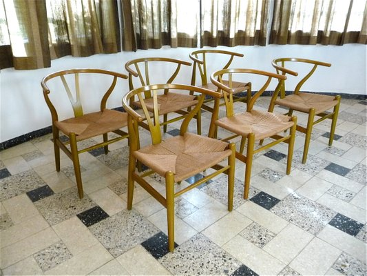 CH 24 Wishbone Chairs by Hans J. Wegner for Carl Hansen u0026 Søn 1950s & CH 24 Wishbone Chairs by Hans J. Wegner for Carl Hansen u0026 Søn 1950s ...