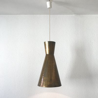 Mid Century Modern Large Diabolo Pendant Lights 1950s Set Of 3