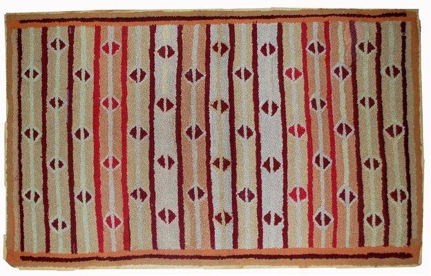 Tappeto antico fatto a mano stati uniti inizio xx secolo in