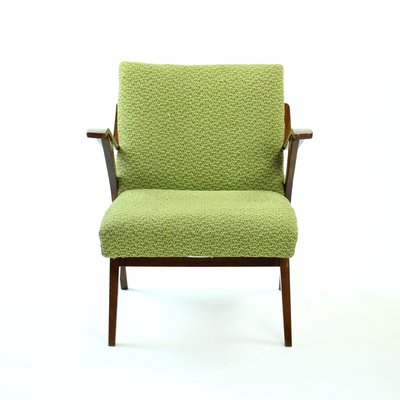 Green Bentwood Lounge Chair From Mier, 1960s 1