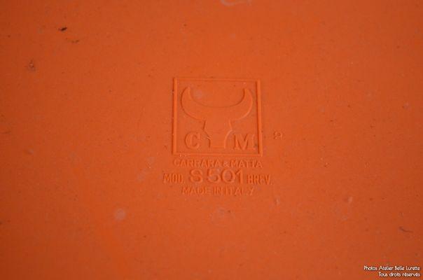 Sgabelli vintage di carrara matta set di in vendita su pamono
