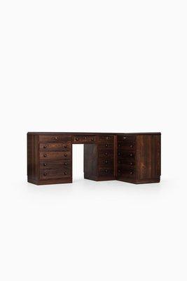 Mid Century Corner Desk U0026 Storage Unit By Frode Holm, 1950s 14