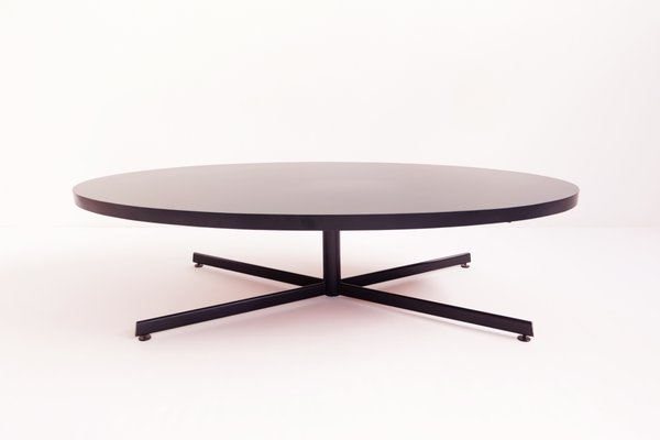 Charmant Large Oval Coffee Table, 1960s