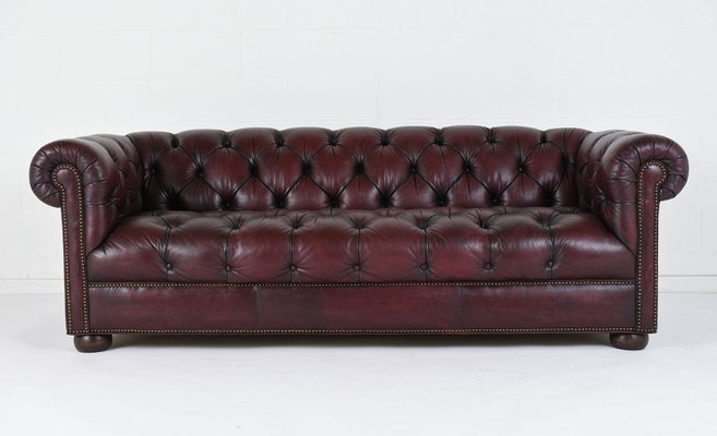 Vintage Tufted Leather Sofa, 1970s 1