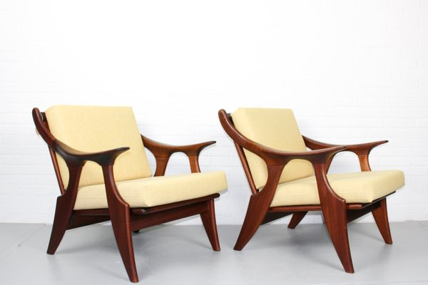 Enjoyable Small Lounge Chairs By De Ster Gelderland 1950S Set Of 2 Andrewgaddart Wooden Chair Designs For Living Room Andrewgaddartcom