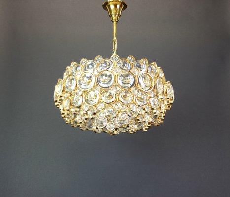 Kronleuchter Aus Vergoldetem Messing U0026 Kristall Von Sciolari Für Palwa,  1970er 1