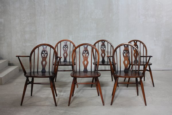 Lovely 371 U0026 371A Windsor Dining Chairs By Lucian Ercolani For Ercol, 1960s, Set Of