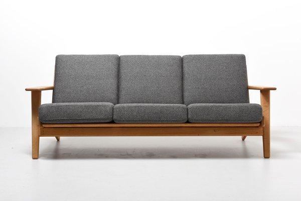 Vintage Ge 290 3 Seater Sofa By Hans J Wegner For Getama