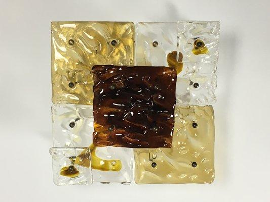 Applique con patchwork in vetro di murano di venini italia anni