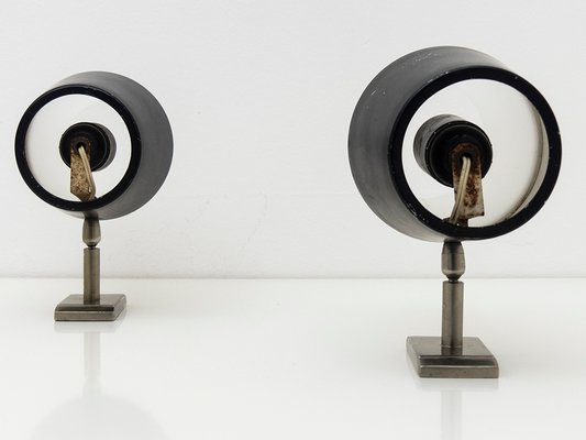 Applique da parete regolabili in metallo e perspex di stilux anni
