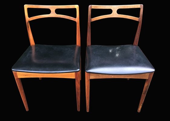 Danish Rosewood Dining Chairs By Johannes Andersen For Linneberg 1960s Set Of 6