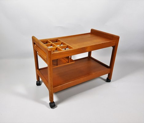 Vintage Danish Teak Serving Cart For