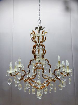 Large vintage venetian chandelier for sale at pamono large vintage venetian chandelier 1 aloadofball