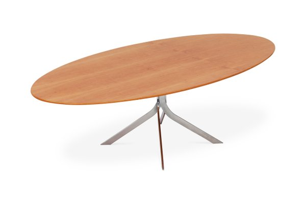 Danish Mid Century Modern Oval Coffee Table