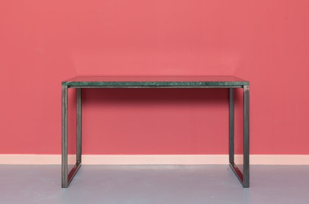 ENNO Serpentinite Stainless Steel Table By Johanenlies For - Stain steel table
