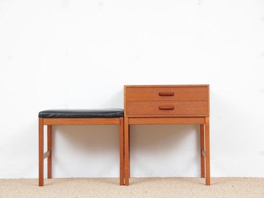 Mid Century Modern Scandinavian Hall Furniture In Teak 1960s Set Of 2 1