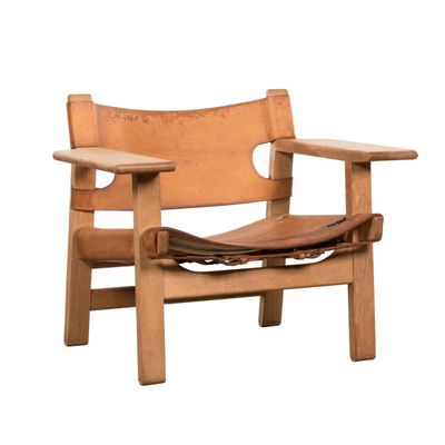 vintage spanish chair by børge mogensen for fredericia stolefabrik