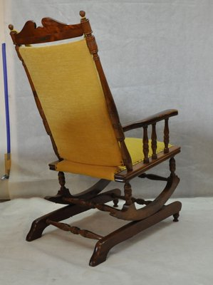 Scandinavian Vintage Wooden Rocking Chair, 1950s 3