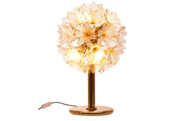 Lampe Fleur Murano Mid Century Par Paolo Venini Pour Veart En Vente