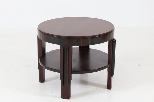 Mahogany Coffee Table By Fa Drilling Amsterdam 1920s 1