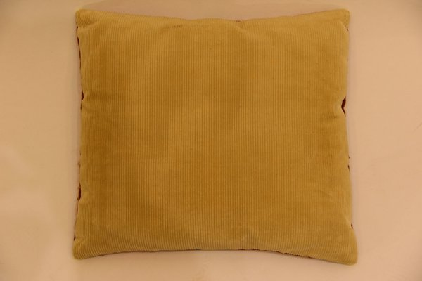 Vintage Hand-Embroidered Sofa Cushion