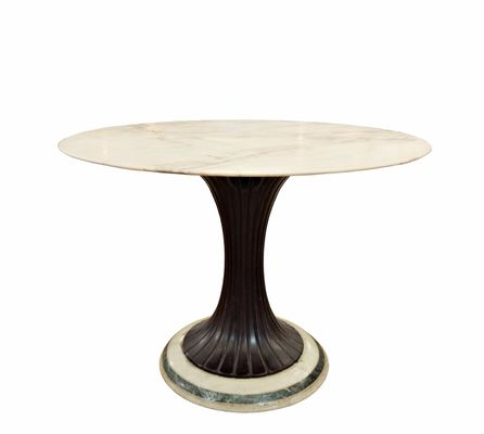 MidCentury Pedestal Dining Table By Osvaldo Borsani S For Sale - Mid century pedestal dining table