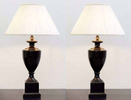 Vintage Table Lamps 1980s Set Of 2 1