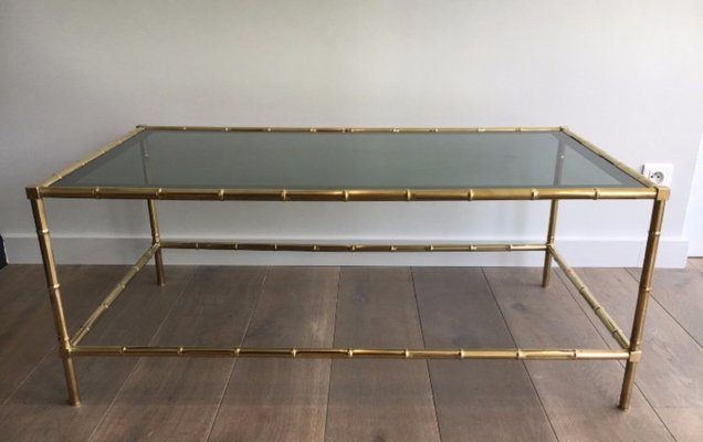 Faux Bamboo Br Coffee Table 1940s