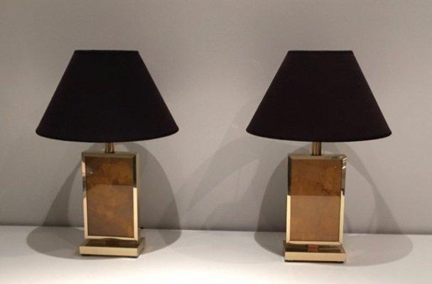 Vergoldete Vintage Lampen, 1970er, 2er Set 2