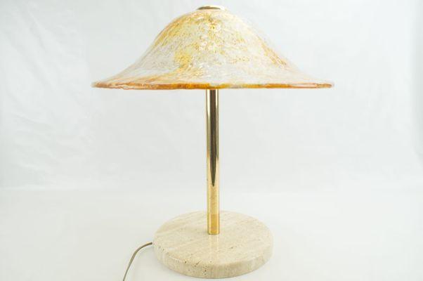 Murano glass brass table lamp from temde 1960s for sale at pamono murano glass brass table lamp from temde aloadofball Gallery