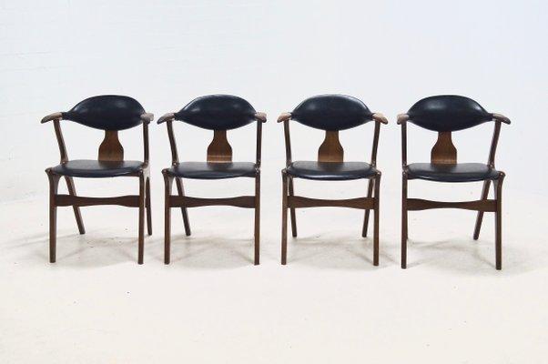 Sedie con braccioli di louis van teeffelen per awa anni set