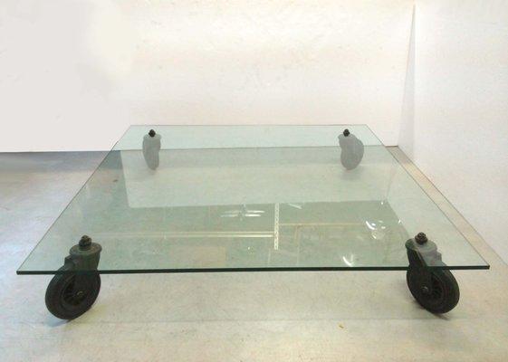 Tavolino Con Ruote Di Gae Aulenti.Tavolo Modello 2653 Vintage Di Gae Aulenti Per Fontana Arte