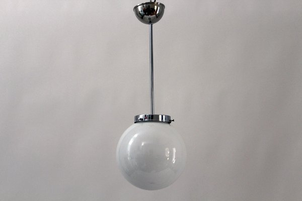 Lampade In Vetro A Sospensione : Lampada a sospensione sferica in stile bauhaus in vetro opalino