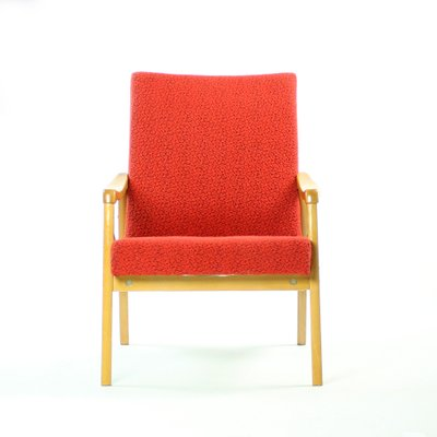 Red Armchairs From Interier Praha 1960s Set Of 2 For Sale At Pamono