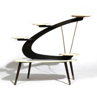 Mid Century Modern Side Table For Flowers, 1950s 2