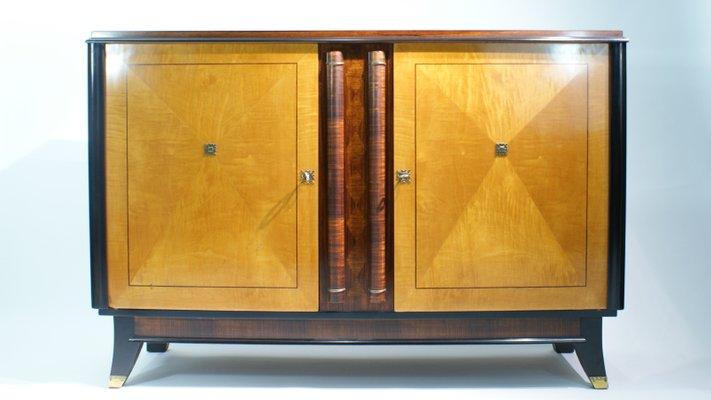 Credenza Art Deco a due toni, Francia, anni \'40 in vendita su Pamono