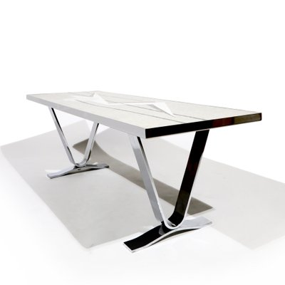 German Futuristic Coffee Table With Mosaic 1960s