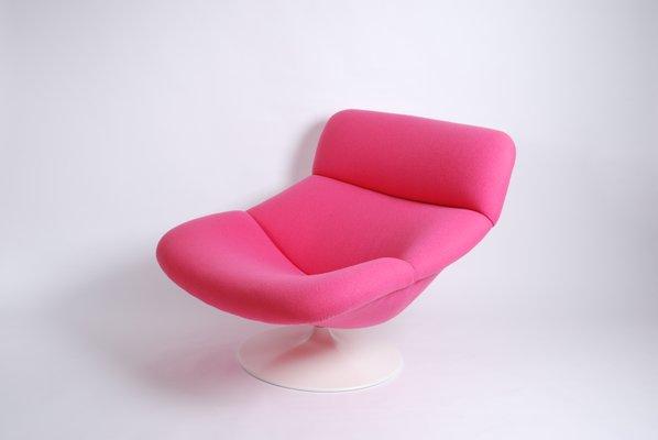 Merveilleux Vintage Pink F518 Lounge Swivel Chair By Geoffrey Harcourt For Artifort 2