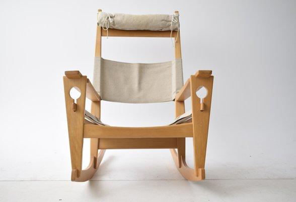 Keyhole Rocking Chair By Hans J. Wegner For Getama, 1960s 2