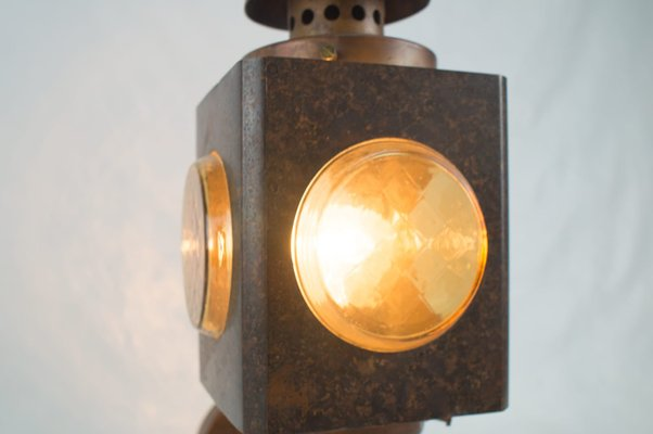 Mid Century Copper Wall Outdoor Light