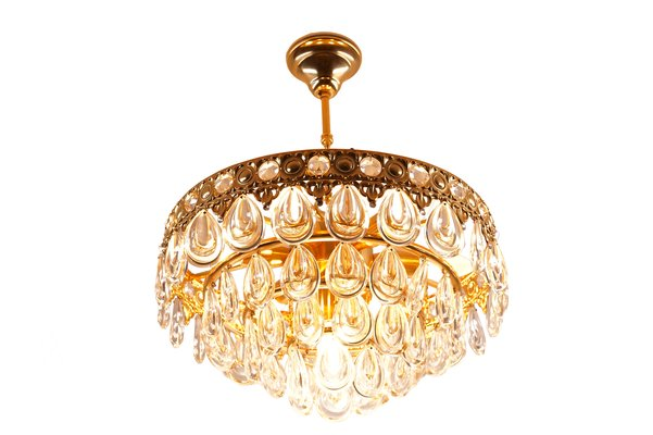Vintage Teardrop Crystal Chandelier From Palwa For Sale At Pamono - Chandelier crystals teardrop